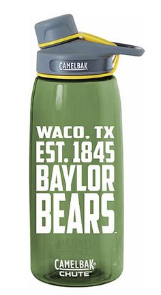 Baylor Camelbak water bottle // YES. Love this!