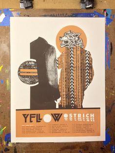 John Knoerl es otro de los diseñadores destacados en nuestros posts sobre pósters de música. Indie. Yellow Ostrich.