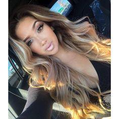 Brown Blonde Hair, Light Brown Hair, Brunette Hair, Dark Blonde, Blonde Wig, Dark Roots Blonde Hair, Mexican With Blonde Hair, Asians With Blonde Hair, Long Brunette