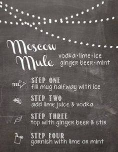 birdberrymad: Moscow Mule Recipe Cards