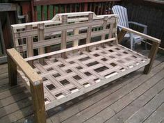 Building a sofa - if I had to do it all over, I would have used zig-zag springs for the back instead of jute webbing. The back is a little stiff due to having no springs, additionally I would slant the back a little. I would also have used two layers of dacron...