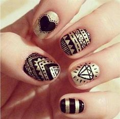 nail art | Black Nail Art Designs Supplies For Beginners 21 Simple Black Nail Art ...