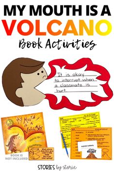 Is interrupting a problem in your classroom? It's time to share My Mouth is a Volcano by Julia Cook. These comprehension and vocabulary activities will help guide your students through the book. Students can create a volcano mouth kid craft to share their learning, too!