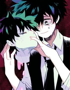 (Villain Deku AU) was in Fan fiction. Is it possible to turn a perfectly good hero into one of the worst villains of all time? Noir a villain with a uniq. My Hero Academia Memes, Hero Academia Characters, My Hero Academia Manga, Boku No Academia, Buko No Hero Academia, Manga Anime, Anime Guys, Fanart, Neko