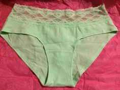Victoria's Secret Low Rise Hiphugger Cotton Panty Green Small Size New For Her #VictoriasSecret #LowRiseHiphugger
