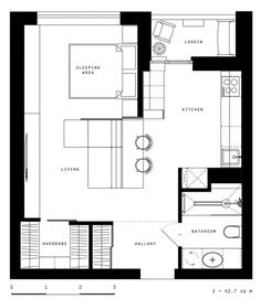 65 Ideas For Apartment Bedroom Design Layout Floor Plans Apartment Layout, Apartment Plans, Apartment Design, Studio Apartment Plan, Bedroom Apartment, Apartment Ideas, The Plan, How To Plan, Kitchen Floor Plans
