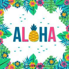 Colorful background of aloha with flowers #Free #Vector #Background #Flower #Floral #Flowers #Summer #Floralbackground #Leaves #Colorful #Tropical #Backdrop #Colorfulbackground #Flowerbackground #Trees #Pineapple #Palm #Season #Tropicalflowers #Aloha #Hawaiian #Backgroundcolor