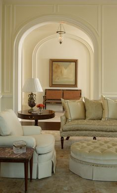 Love the arches and simple, classically elegant furnishings
