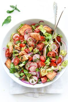The Best Fattoush Salad | http://foodiecrush.com