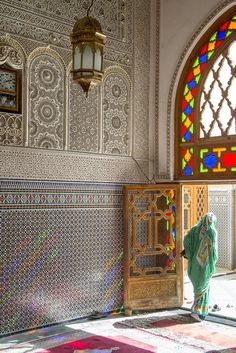 The vibrant colors of Fez, Morocco.