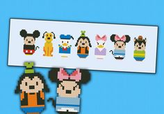 Mickey Mouse and friends parody Cross stitch PDF by cloudsfactory