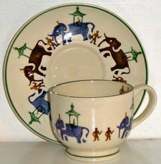 Working elefants cup and saucer