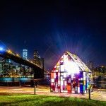 Tom Fruin's Stained Glass House Installed at Brooklyn Bridge Park