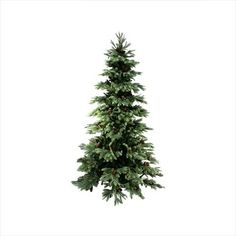 NorthLight 7 ft. New England Pine Medium Artificial Christmas Tree With Pinecones, Unlit