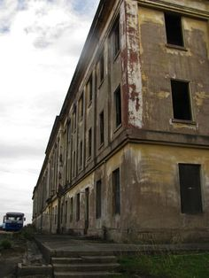 """Abandoned Angel Island - (1000 Man Barracks.the """"600-Man barracks"""" (later known as the """"1000-Man Barracks"""" due to the influx of soldiers it needed to house)"""