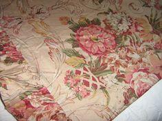 Vintage Ralph Lauren Guinevere Floral Queen Flat Sheet Medieval Collection HTF | eBay