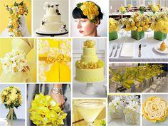 Decora��o amarela e branca