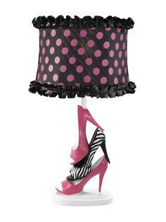 The fashionista in your family will go wild over the fun, stylish design of the Stiletto lamp.