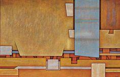 lawrenceleemagnuson:Gunther Gerzso (Mexico 1915-2000) Espacio y tiempo (1998)oil on masonite 60 x 92cm