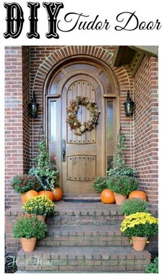 diy tudor door; I would love to have this made for our front door . . . just don't think I can convince a handyman to do it for me.