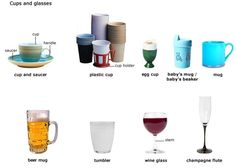 Forum | Learn English | Vocabulary: Cups and Glasses | Fluent Land