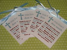 20 Religious Baptism Communion Christening favors by SuLuGifts, $30.00
