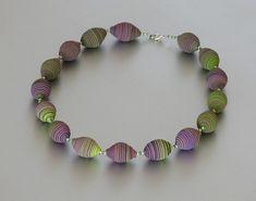 Necklace - Extuder Beads lime-fuchsia | Extruder-Perlen | ST-Art-Clay | Flickr