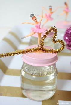 Our wonderful customer at A Bubbly Life made these adorable DIY Bubble Party Favors with our retro ballerina cupcake toppers!  Get your ballerinas here (http://www.aisforapronstrings.com/shop-baking/cupcake-picks-rings/pretty-retro-ballerina--cupcake-picks)!  ;)