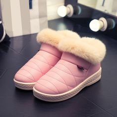 Women Snow Boots Winter Warm Fur Ankle Boots Couple Thick Sole Cotton Shoes  #Unbranded #AnkleBoots