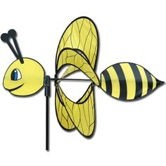 Bee Whirly Wing Wind Spinner - this little guy is BEEutiful!