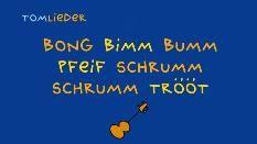 Zeichnung: Gitarre und Liedtitel auf blauem Hintergrund (Bild: SWR)