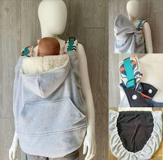 Babywearing cover - This cozy cover snaps around the straps of your favorite carrier! The outer edge of the cover has a hidden elastic channel designed to fit around your carrier and your childs arms and legs to keep them warm and cozy! The cover comes with a hood and front pocket. This
