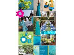 Combinación de color verde para una boda color turquesa