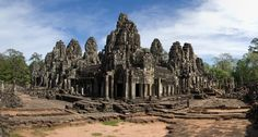 Photo about A Bayon Temple in Angkor Thom, Siem Reap, Cambodia. Image of bayon, historic, ancient - 28623145 Siem Reap, Angkor Wat, Art Tutorials, Monument Valley, New York Skyline, Royalty Free Stock Photos, Explore, Adventure, Temples
