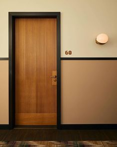 """Soho House Amsterdam"" by Linda Boronka Hotel Hallway, Hotel Corridor, Hotel Door, Door Design Interior, Main Door Design, Modern Door Design, Garage Design, Interior Doors, Design Art"