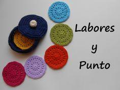 Aprende a tejer esta caja y los posavasos  a ganchillo o crochet - Parte...
