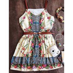 $14.00 Bohemian Women's Printed Spaghetti Strap Dress