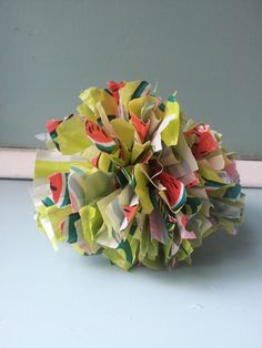 Pompoms from plastic bags #recycle