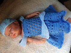 crochet photo prop Disney's Cinderella inspired princess dress size- newborn. $25.00, via Etsy.