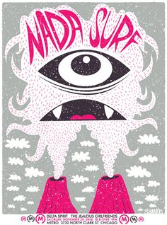 Nada Surf concert poster by Dimitri Simakis
