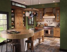 Kitchen design with great colors. Waypoint Living Spaces | Style 650 in Oak  Tawny