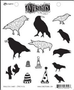 DYR34506 - Dylusions Rubber Stamps - Birds on a Wire