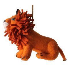 Lion Felt Holiday Ornament - Silk Road Bazaar (O)
