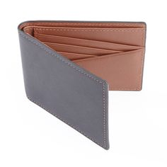 Experience the quality of 100-step handmade construction with this genuine top-grain leather wallet. The slim design fits comfortably in a pocket, and the lined interior features a cash compartment an