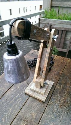 La menuiserie 503: Une petite lampe d'architecte en bois de palette | Caisses et…