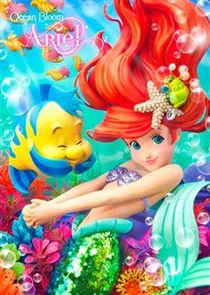 Disney The Little Mermaid Ariel 3D Lenticular Greeting Card