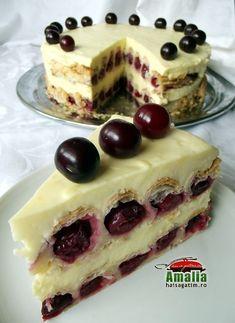 Sour cherry pastry cake - amalia