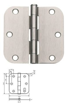 Door Hinges 66739: Lot Of 30 Satin Nickel 3.5 X 3.5 (3 1