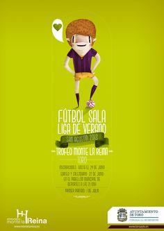 """Cartel Futbol Sala Liga de verano. Ayto. Toro. """"El Santo Job"""""""