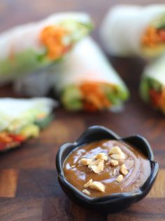 Peanut Sauce Recipe!! I was obsessed with it in Sweden and haven't been able to find it! Best with spring rolls